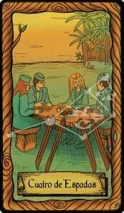 cuatro de espadas tarot conspiratorio
