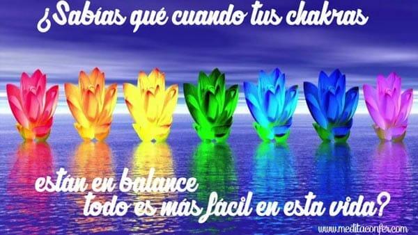 Los Chakras en balance mejorarán tu vida.