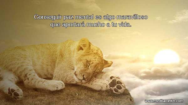 Si consigues paz mental, podrás mejorar muchos aspectos de tu vida, ¡y disfrutarla más!