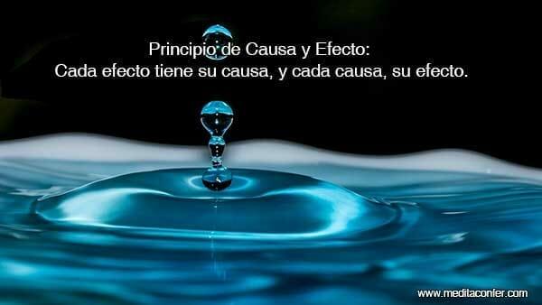 Principio de Causa y Efecto: Todo efecto tiene su causa.